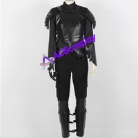 The Hunger Games Katniss Everdeen Cosplay Costume black version acgcosplay