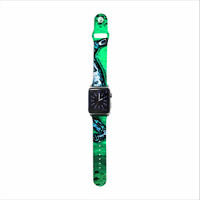 "Anne LaBrie ""Dance On"" Green Blue Apple Watch Strap"