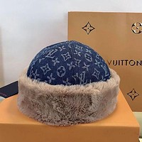 LV Louis Vuitton Hair Hat New Leather Fisherman's Hat