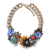 JEWELLED FLOWERS NECKLACE - Accessories - Accessories - Woman | ZARA United States