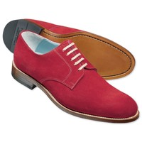 Red suede Millbank Derby shoes   Men's casual shoes from Charles Tyrwhitt   CTShirts.com