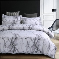 FANAIJIA Marble pattern 3d printing bedding sets queen size duvet cover set with Pillowcase AU size single Bedlinen Home textile