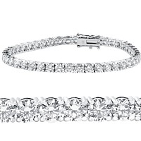 10 ct. tw. Classic Four-Prong Diamond Tennis Bracelet in 14k White Gold