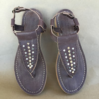 Mikka Leather Studded Sandals