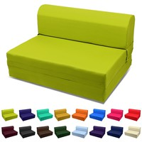 Sleeper Chair Folding Foam Bed Choose Color & Sized Single,twin or Full (Single (5x23x70), Olive Green)
