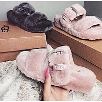 UGG new plush hollow slippers boots Shoes(adjustable)-2