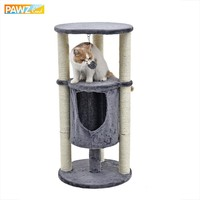 H91cm Cat Toy Climbing Furniture With Play Ball Cat Scratching Wood for Cat Multi-functionable Cylindrical House Pet Supply