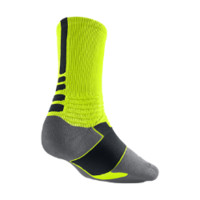 Nike Hyper Elite Crew Basketball Socks Size Large (Yellow)