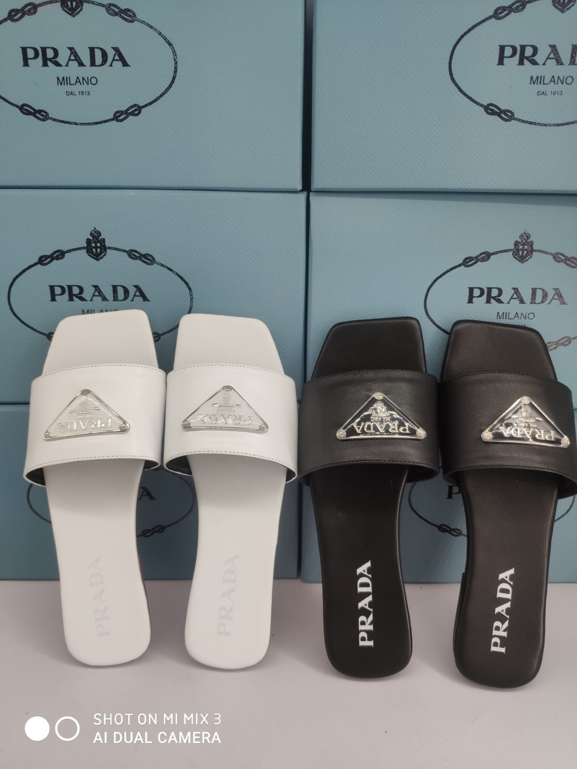 Image of Prada Women's Leather Fashion Sandals Shoes
