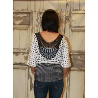Triangles and Lace Top