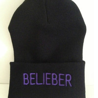 BELIEBER winter beanie one size fits all i love justin bieber fever love the bibs