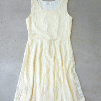 Buttercup Lace Dress [7054] - $42.00 : Feminine, Bohemian, & Vintage Inspired Clothing at Affordable Prices, deloom