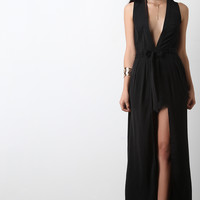 Belted Maxi Wrap Romper