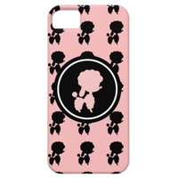 Pink and Black Poodles iPhone 5 Cover from Zazzle.com