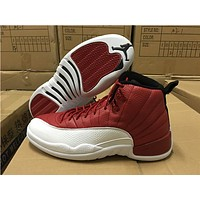 Air Jordan 12 Retro Alternate Gym Red AJ12 Sneakers