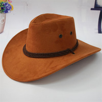 Summer Men Shade Big Crow Hat Western Cowboy Hat Riding Hat Camping Outdoor Hat Leather Cap