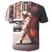 Astronaut on Fire Tee