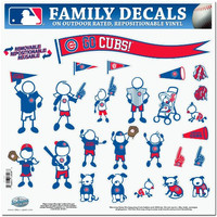 MLB Chicago Cubs Large Family Decal Set