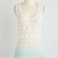 Boho Long Sleeveless Just in the Dip of Time Top by ModCloth