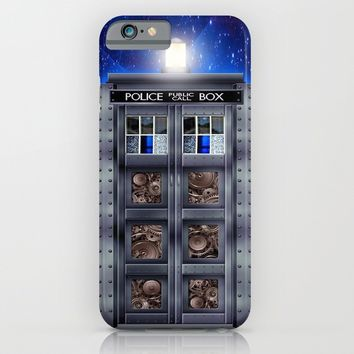 Steampunk time machine Phone booth iPhone & iPod Case by Greenlight8