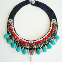 Free Shipping/Handmade authentic necklace/sale/turquoise necklace