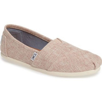 Toms Women's Classics Slip On Pale Pink Lurex