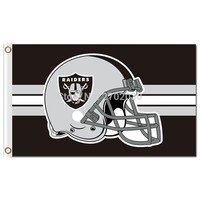 Oakland Raiders Helmet Flag Football World Series Custom Flags 3ft X 5ft Oakland Raiders Flag Premium Team Helmet Banner