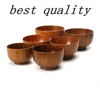 Natural Jujube Wooden bowl chinese soup rice Noodles bowls