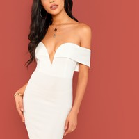 Lucy Off The Shoulder Bodycon Dress