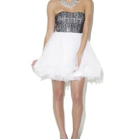 Sequined Sweetheart Tulle Skirt Dress | Shop Just Arrived at Wet Seal