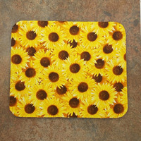 FREE SHIPPING Mouse Pad Sunflower Mouse Pad Teacher Mouse Pad  Office Decor Mouse Pads Sunflowers Floral Mouse Pad Garden Mouse Pad