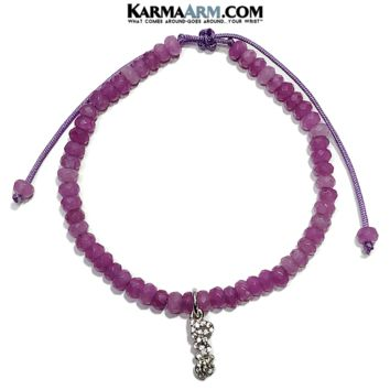 Tiny Treasures | Love Charm | Purple Jade Adjustable Reiki Meditation Bracelet