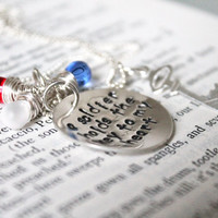 """SALE- Hand Stamped """"A Soldier Holds The Key To My Heart"""", Military Wife or Military Girlfriend, Army, Navy, Marine Necklace"""