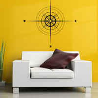 Vinyl Wall Decal Sticker Map Compass #1122