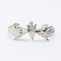 We Who Pray Dualing Panther in Silver - Urban Outfitters