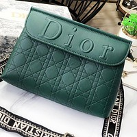 DIOR Fashion New Leather Shoulder Bag Women Crossbody Bag Green