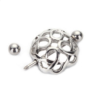 12g Surgical Steel Nipple Ring Piercing Shield Clip On Nest Ring Shape Women Body Jewelry  SM6