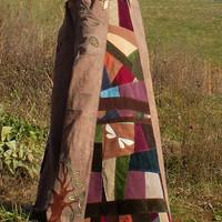 Hippie Patchwork hemp panel pants Build your Own POCKETS