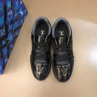 lv louis vuitton men fashion boots fashionable casual leather breathable sneakers running shoes 518