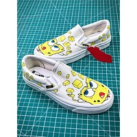 Spongebob X Vans Og Classic Slip On Beige Shoes