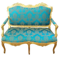 Giltwood Settee in French Hepplewhite Style, Mid 19th Century