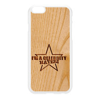 Carved on Wood Effect_Celebrity Hater White Hard Plastic Case for iPhone 6 Plus by Chargrilled