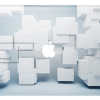 White Cube Decal for Macbook Pro, Air or Ipad Stickers Macbook Decals Apple Decal for Macbook Pro / Macbook Air J-048