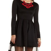 Organza Cut-Out Skater Dress by Charlotte Russe