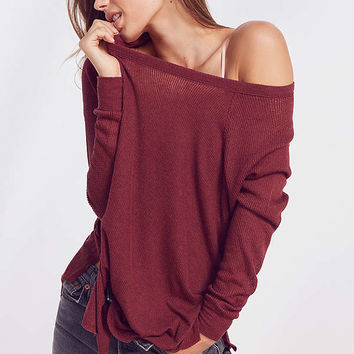 Out From Under Sophia Split Side Raglan Top   Urban Outfitters