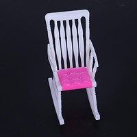 Rocking Chair for Barbie Dolls Accessories Kids Girls Role Play Toys Gift Chair Furniture for Barbie Dolls House Decoration