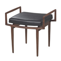 Blackinton Mid-Century Single Bench in Dark Cherry