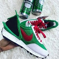 Bunchsun Undercover X Nike Dbreak New Fashion Hook Running Sports Leisure Women Men Shoes Green