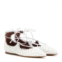 Willa perforated leather ballerinas