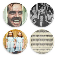 The Shining Pin or Magnet Overlook Hotel All Work No Play Jack Nicholson Pinback Button